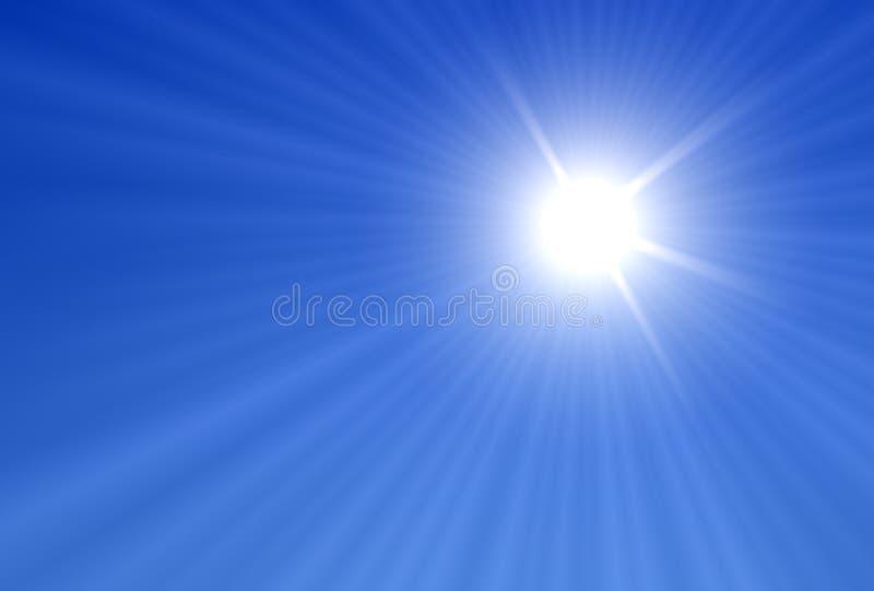 Sun-Strahlen stock abbildung