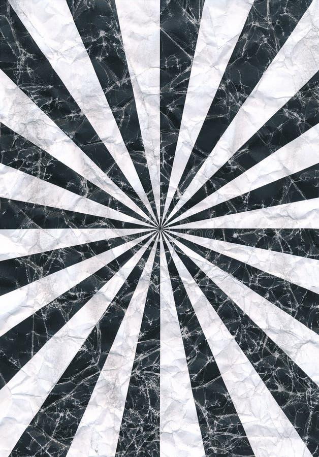 Sun-Strahlen scannten das Muster, das zerknittert wurden oder den gescannten zerknitterten Hintergrund stock abbildung