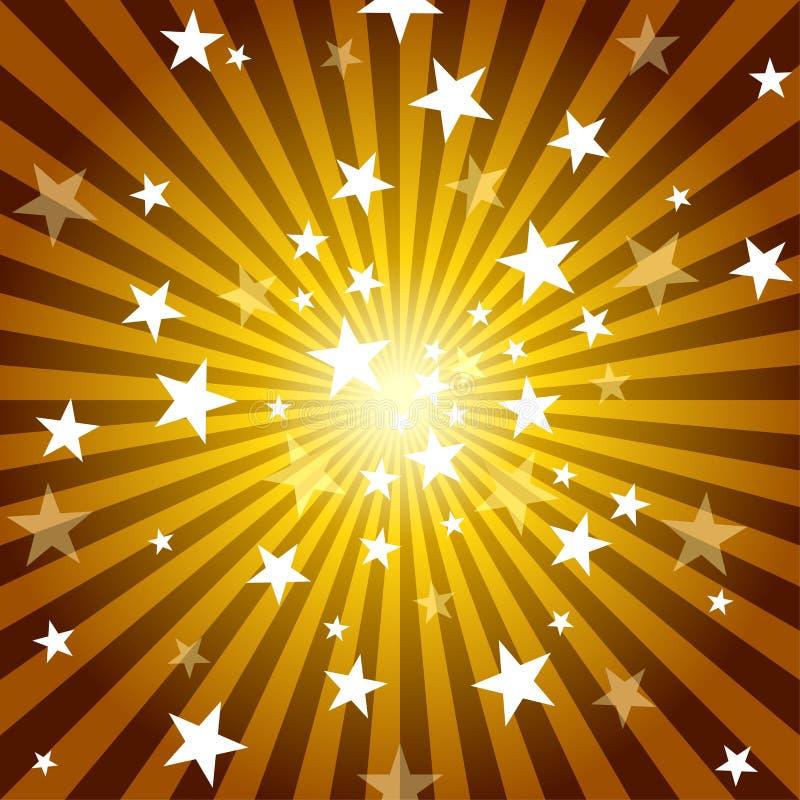 Sun-Strahlen und Sterne vektor abbildung