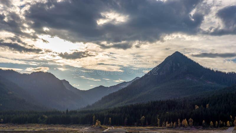 Sun-Strahlen in Washington lizenzfreies stockfoto