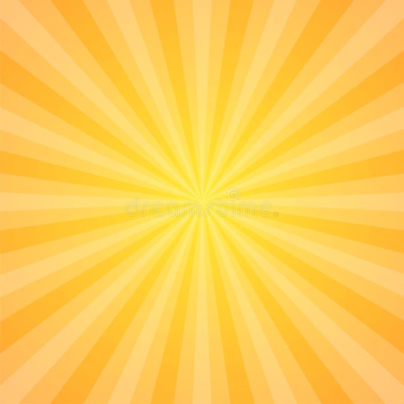 Sun strahlt Vektorillustration aus Rays Hintergrund Sun-Strahlnthema-Zusammenfassungstapete Gestaltungselemente in der Weinlese-A lizenzfreie abbildung