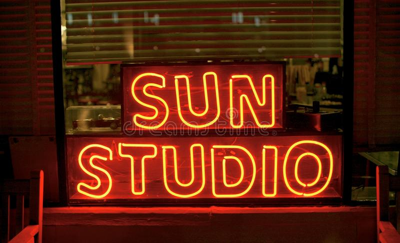 Sun Studio, Memphis Tennessee royalty free stock photos