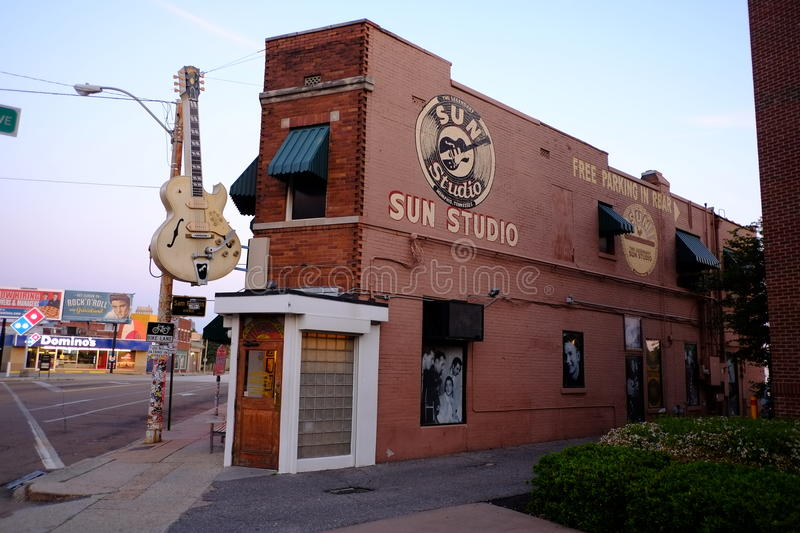 Sun Studios, Downtown Memphis, TN stock photos