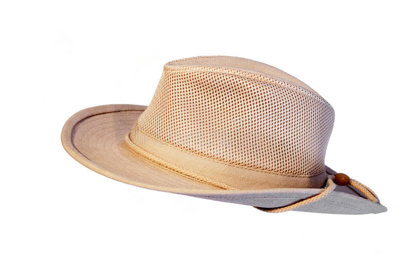Sun summer hat isolated. On white background royalty free stock images
