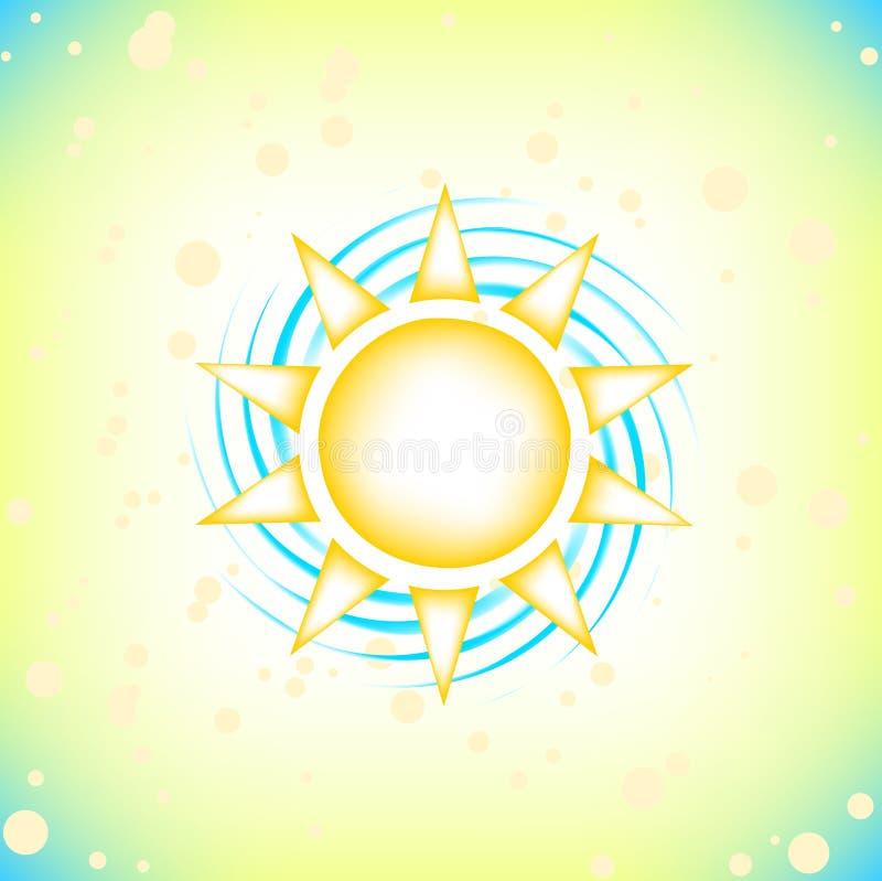Sun in summer sky stock illustration