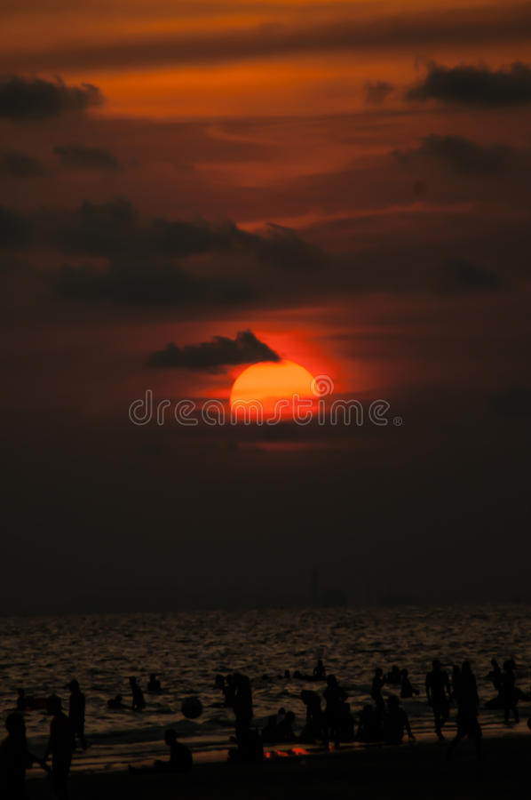 The sun stock image