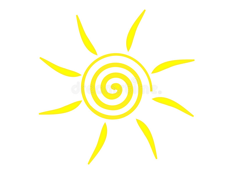 Sun symbol royalty free illustration