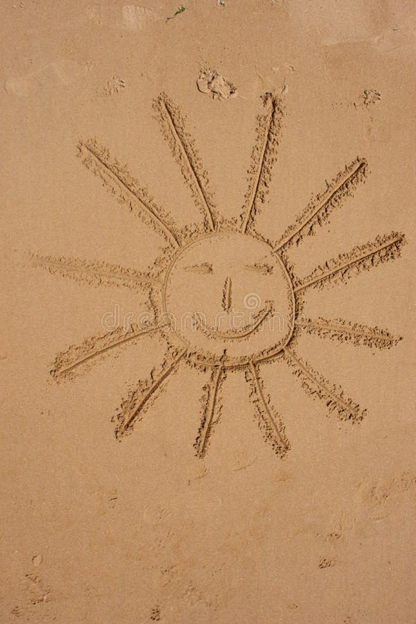 Download Sun symbol holiday stock photo. Image of beach, drawn - 28878122