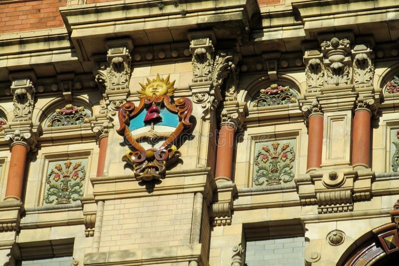 Sun Symbol On Palacio De Aguas Corrientes In Buenos Aires Stock
