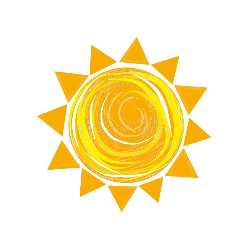 Sun symbol vector summer time stock illustration