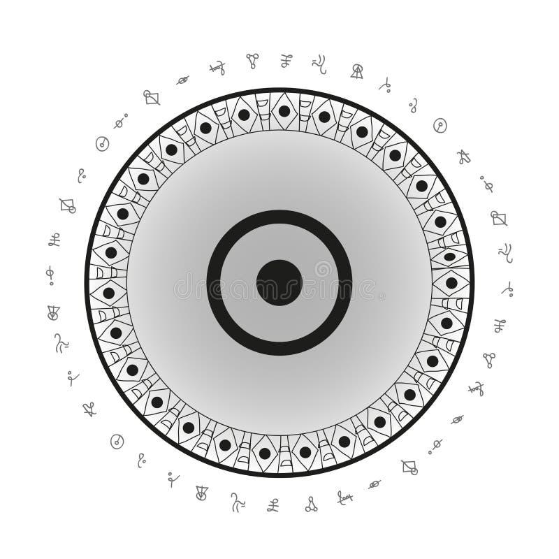Sun-Symbolhintergrund lizenzfreie abbildung