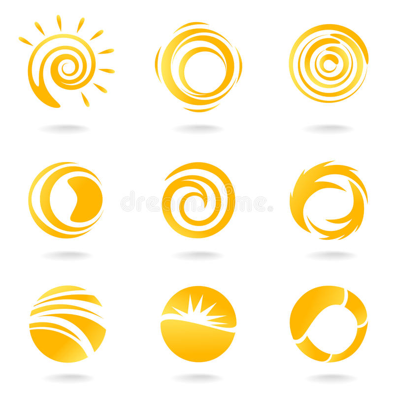 Sun symbols royalty free illustration