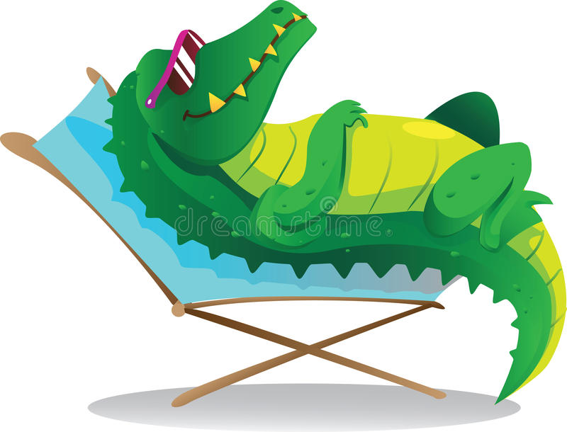 Download Sun tanning croc stock vector. Illustration of reptile - 23363616