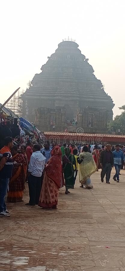 This sun temple of india stock photo