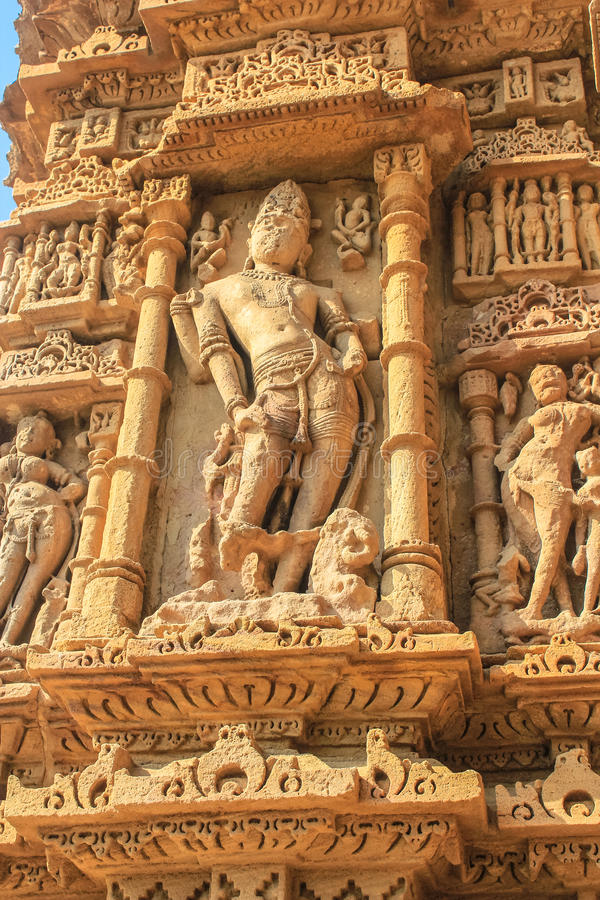 Sun temple sculpture, Modhera, India royalty free stock photos