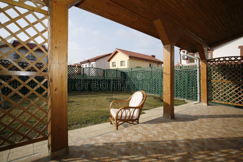 Sun terrace stock images