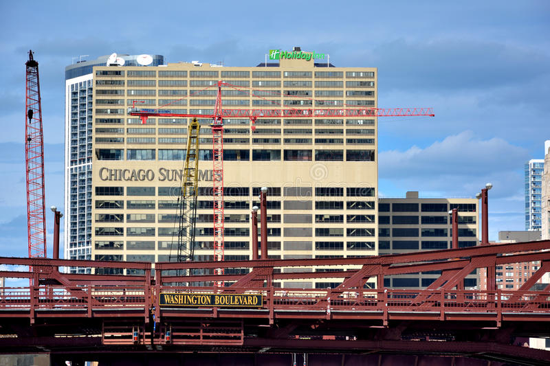 Sun-times building in Chicago, Illinois royalty free stock photos