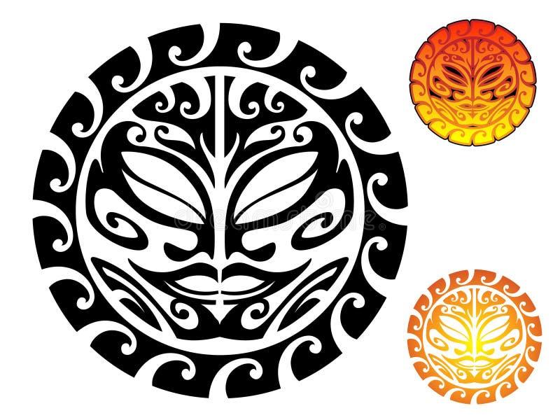 Sun tribale illustrazione di stock