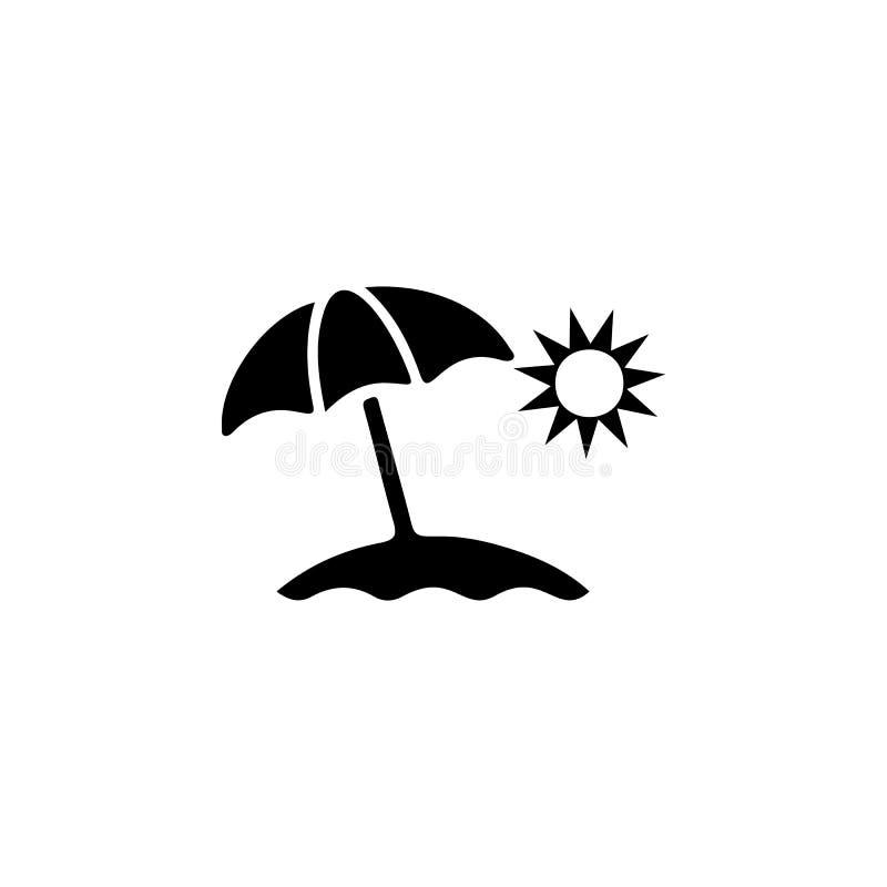 Sun Umbrella Icon. Beach holidays simple icon. Travel element icon. Premium quality graphic design. Signs, outline symbols collect royalty free illustration