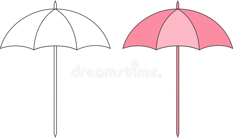 Sun umbrella royalty free illustration