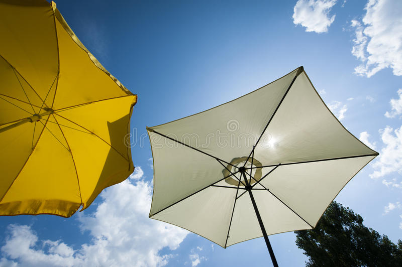 Download Sun Umbrella At Wonderful Summer Day With Blue Sky Stock Image - Image: 26853637