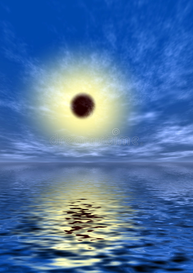 Sun in un cielo blu fotografia stock libera da diritti