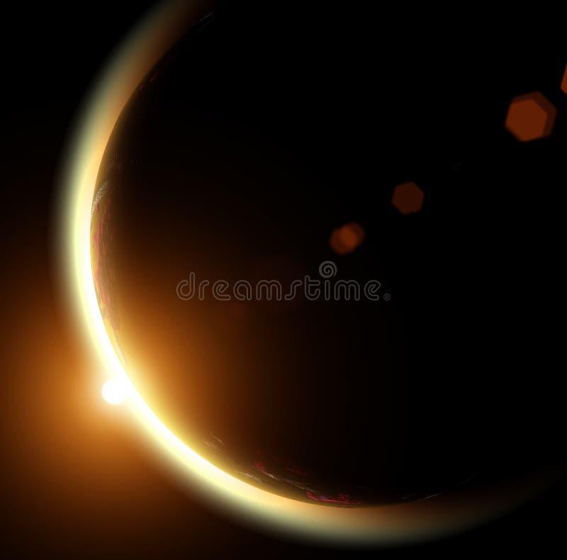 Sun und Erde lizenzfreie abbildung