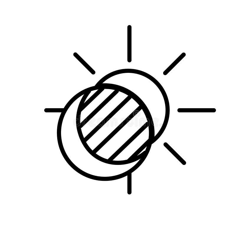 Sun- und Mond-Eklipse-Ikonen-Vektor lizenzfreie abbildung