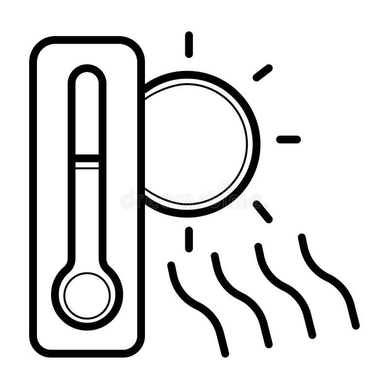 Sun und Thermometerikone vektor abbildung