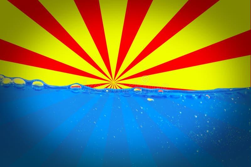 Sun und Wasser lizenzfreie abbildung