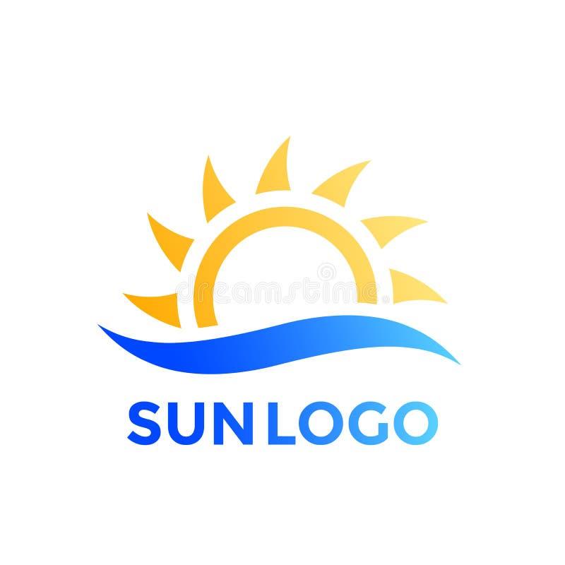 Download Sun- Und Wellenvektorlogoelement Vektor Abbildung - Illustration von horizont, reise: 96932903