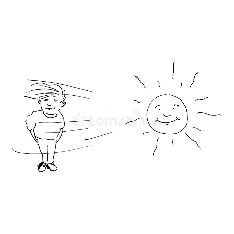Sun und Wind vektor abbildung