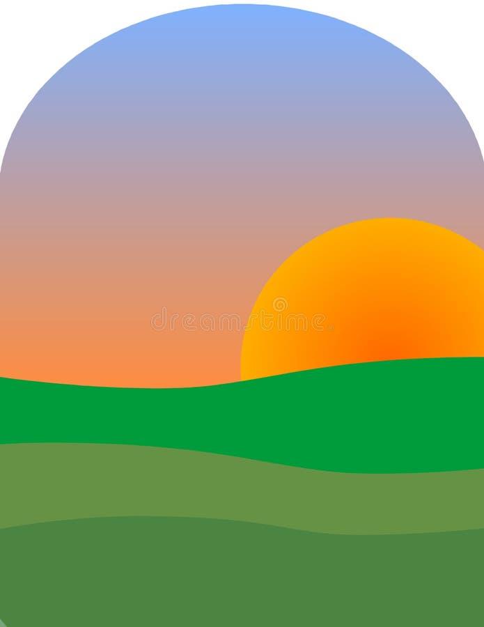 Sun Upp Arkivfoto