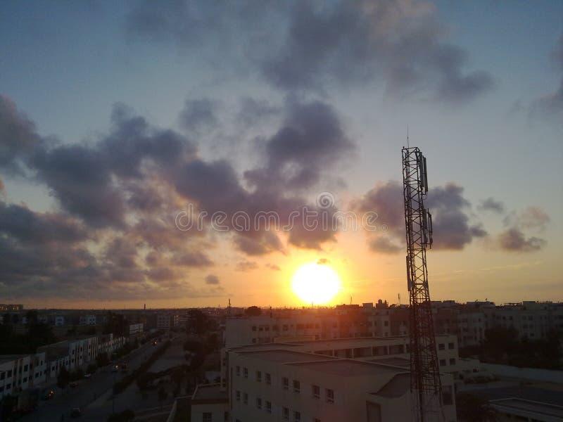 Sun va abajo fotografía de archivo libre de regalías
