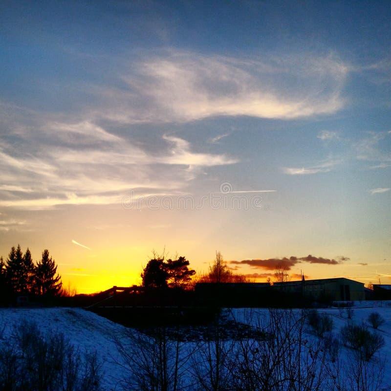 Sun vai para baixo #sunset fotografia de stock royalty free