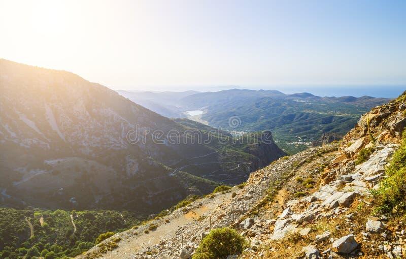 Sun valley of Greece. Lassithi Plateau on island of Crete, Greece. Sun valley of Greece. Lassithi Plateau on the island of Crete, Greece stock photography