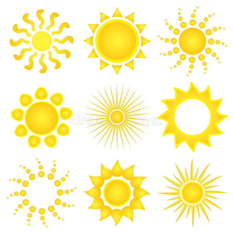 Sun vector icons vector illustration