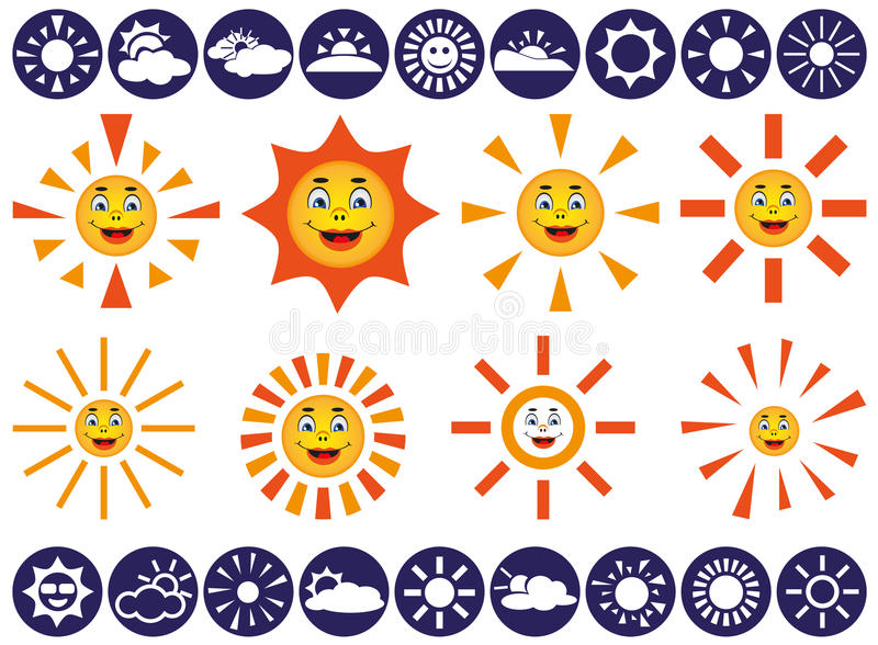 Download Sun vector icons stock vector. Image of background, morning - 42198179