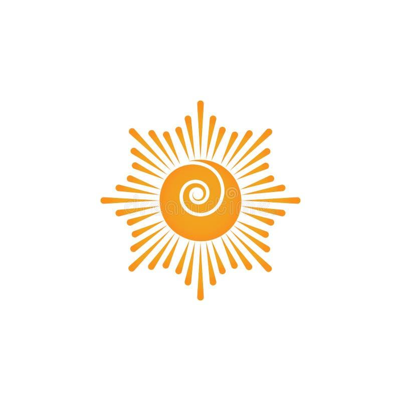 Sun Vector illustration Icon. Logo Template design stock photography