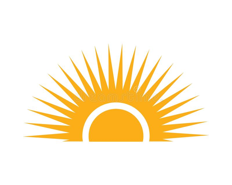 Sun Vector illustration Icon royalty free stock image