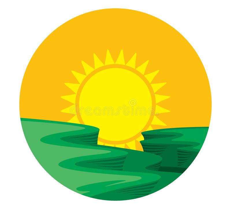 AWESOME SUN LOGO vector illustration