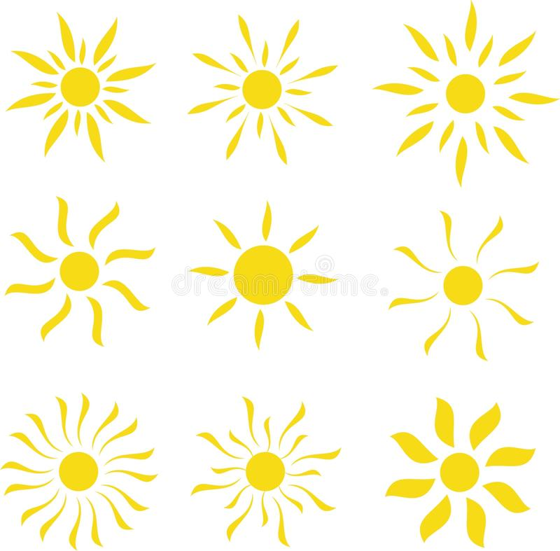 template of a sun