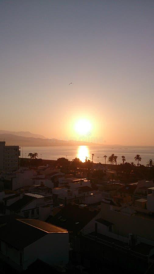 Sun vers le bas en Espagne photographie stock