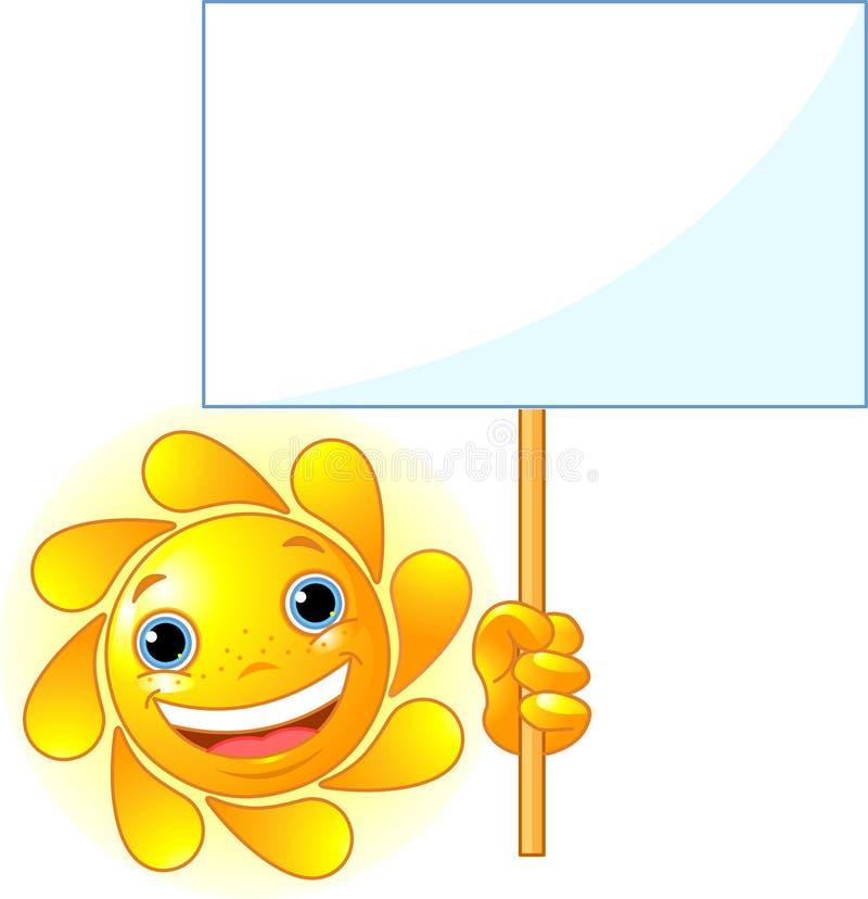 Sun visar ett tecken stock illustrationer