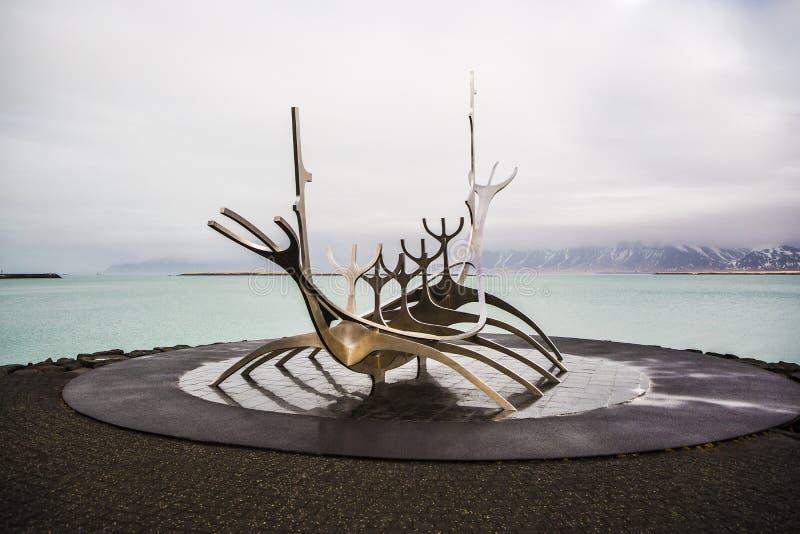 The Sun Voyager à Reykjavik, Islande photographie stock