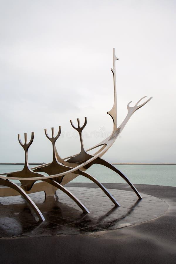 The Sun Voyager w Reykjavik, Iceland zdjęcia royalty free