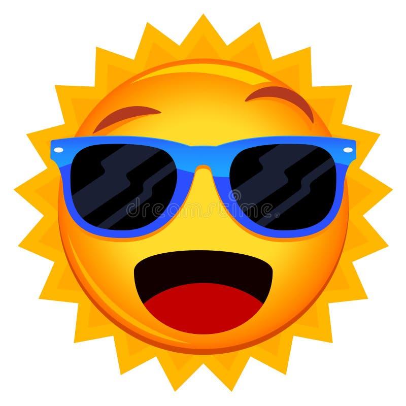 Sun Wearing Sunglasses stock illustration