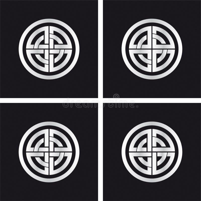 Sun Wheel Celtic Solar Symbol Stock Vector Illustration Of