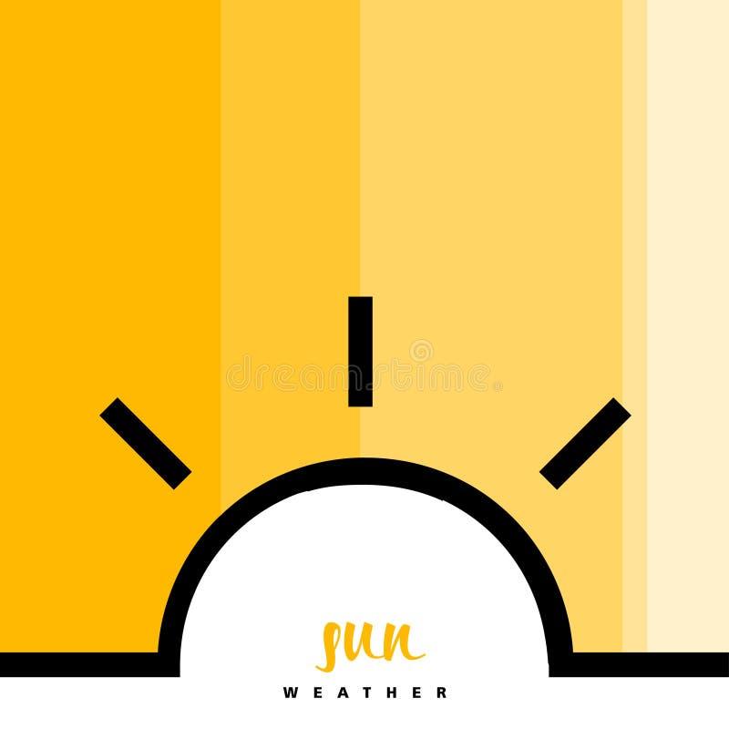 Sun-Widget und -ikonen mit Art-Text lizenzfreie stockfotos