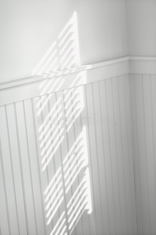 Sun through window blinds stock image